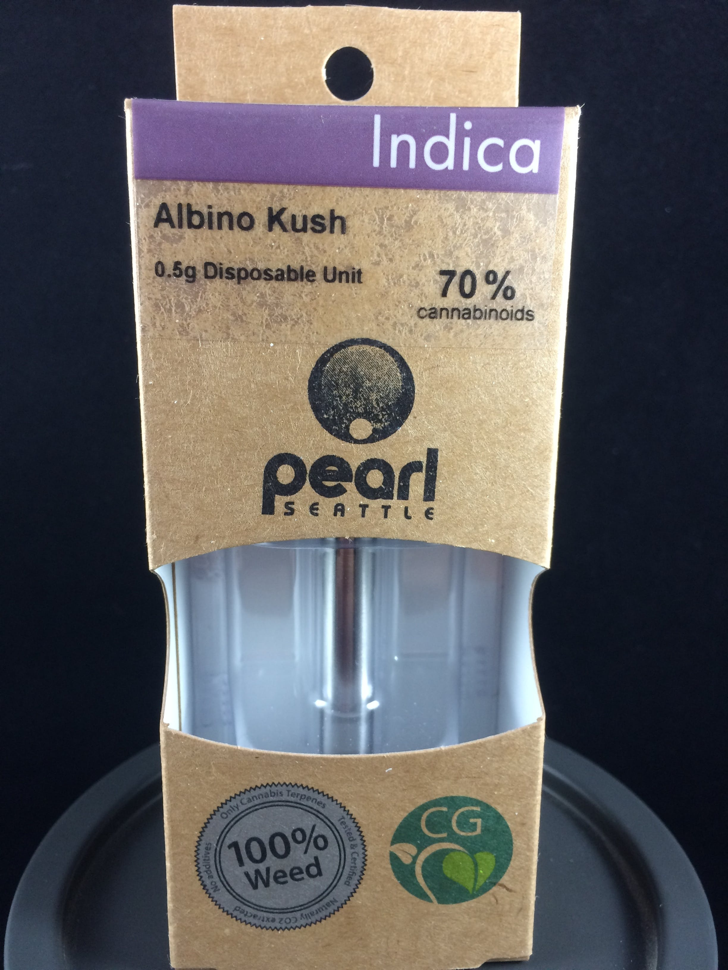 Albino Kush Cartridges by Pearl Extracts