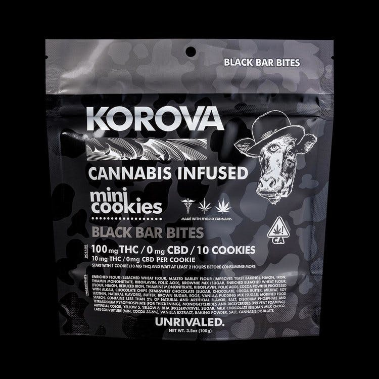 marijuana-dispensaries-korner-town-in-los-angeles-black-bar-bites-mini-cookies-100mg-thc
