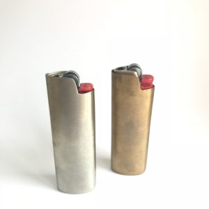 Brass/Sterling Lighter Cover