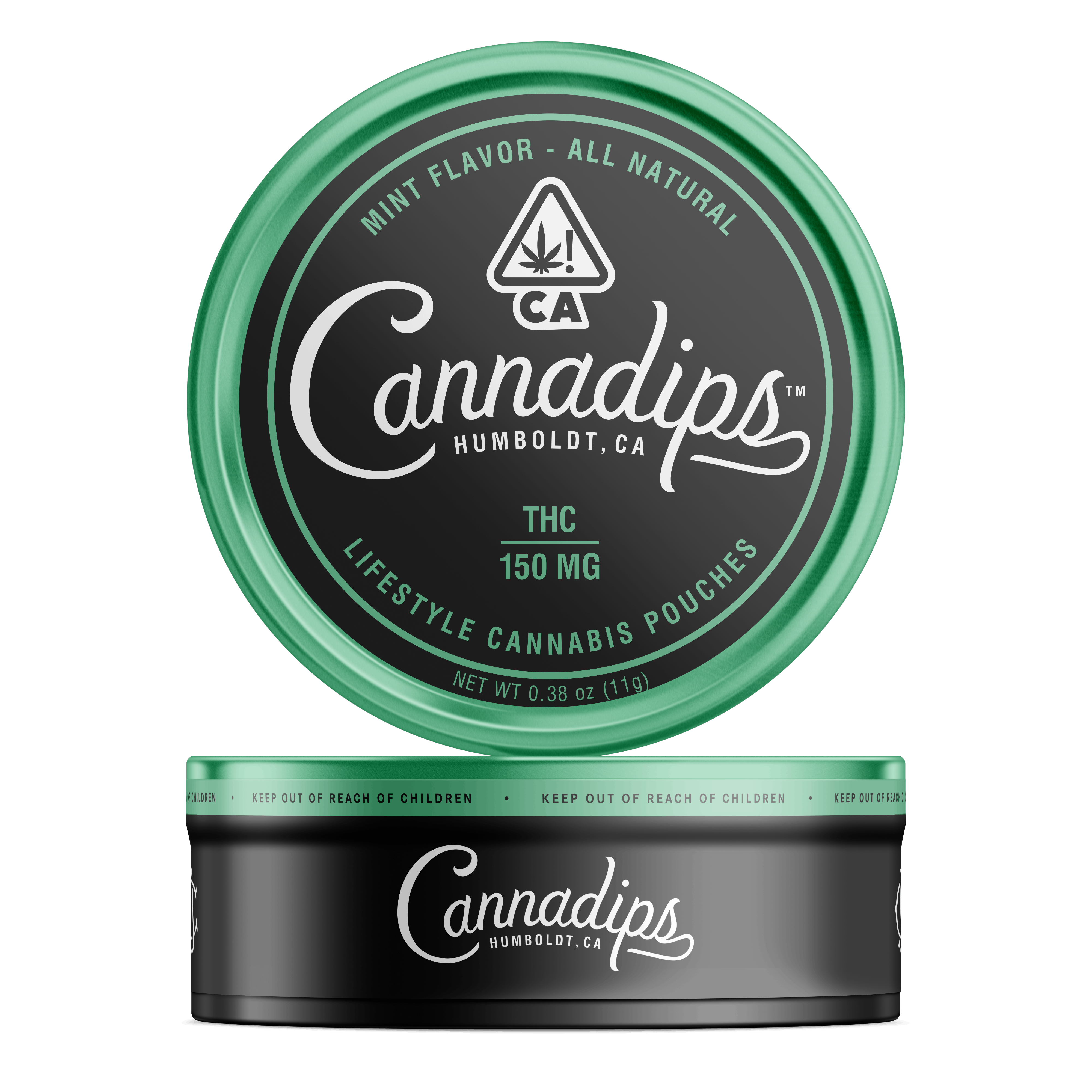 Cannadips Mint Pouches (THC), Micro-Dose Tin
