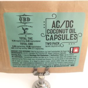 CBD APOTHECARY - Extra Strength AC/DC Coconut Oil Caps. (2pk)