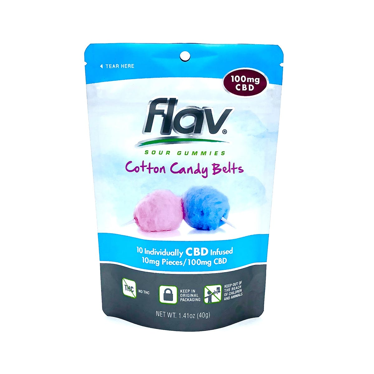 CBD - Gummies: Cotton Candy Belts 100mg