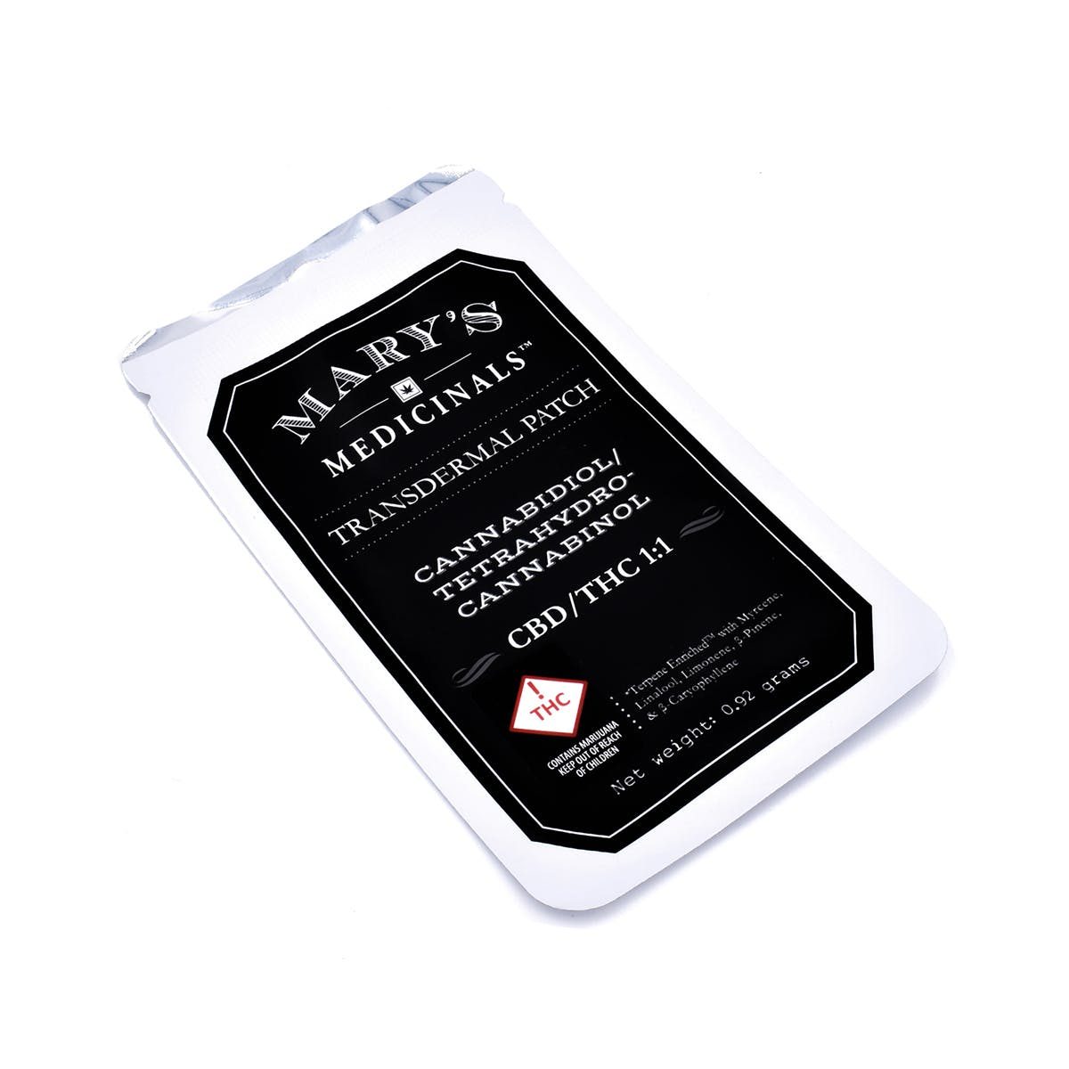 CBD THC 1:1 Transdermal Patch, 10mg - REC