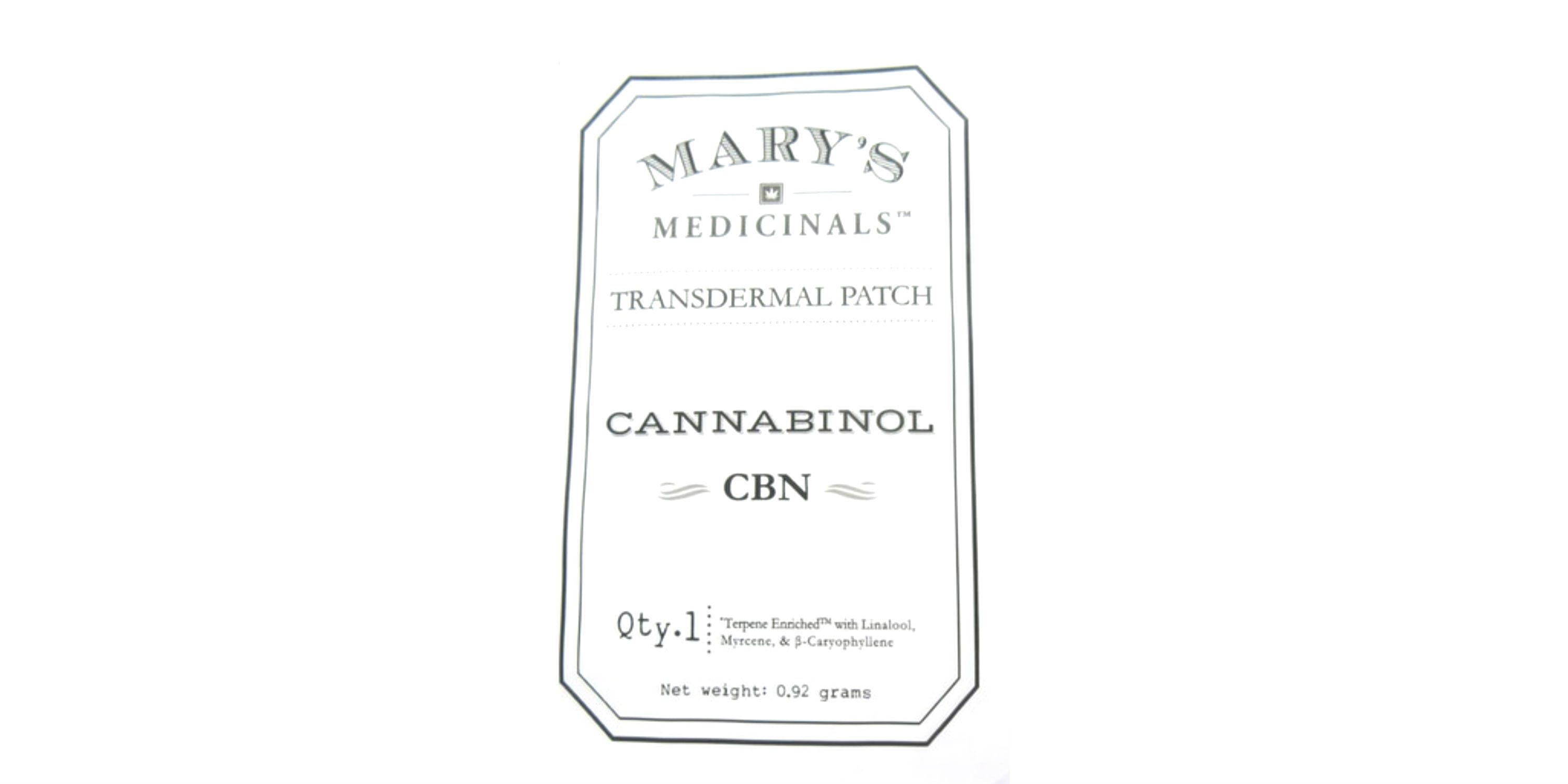marijuana-dispensaries-8709-fingerboard-rd-frederick-cbn-transdermal-patch-2c-10-mg-marys-medicinals