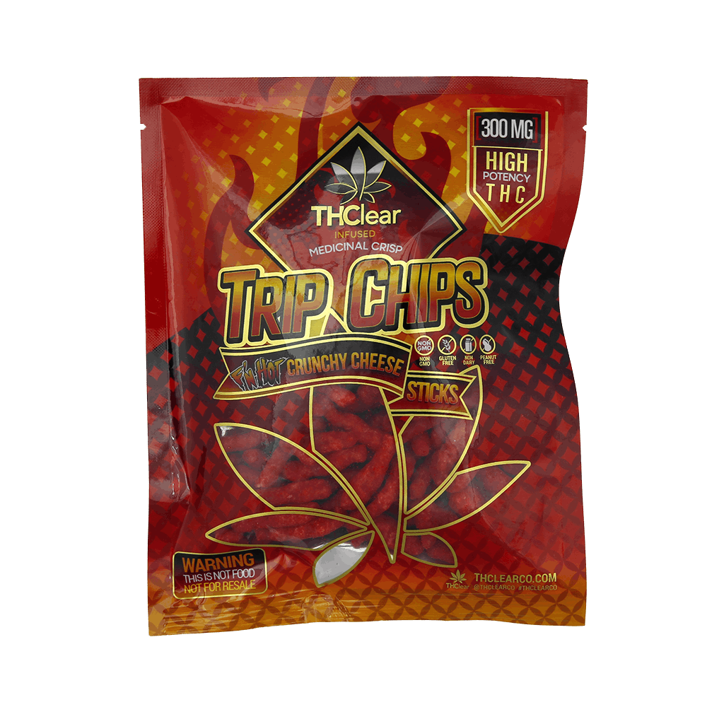 Extra Hot Crunchy Cheese Trip Chips 300mg
