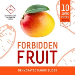Forbidden Fruit Dehydrated Mango Slices 100mg