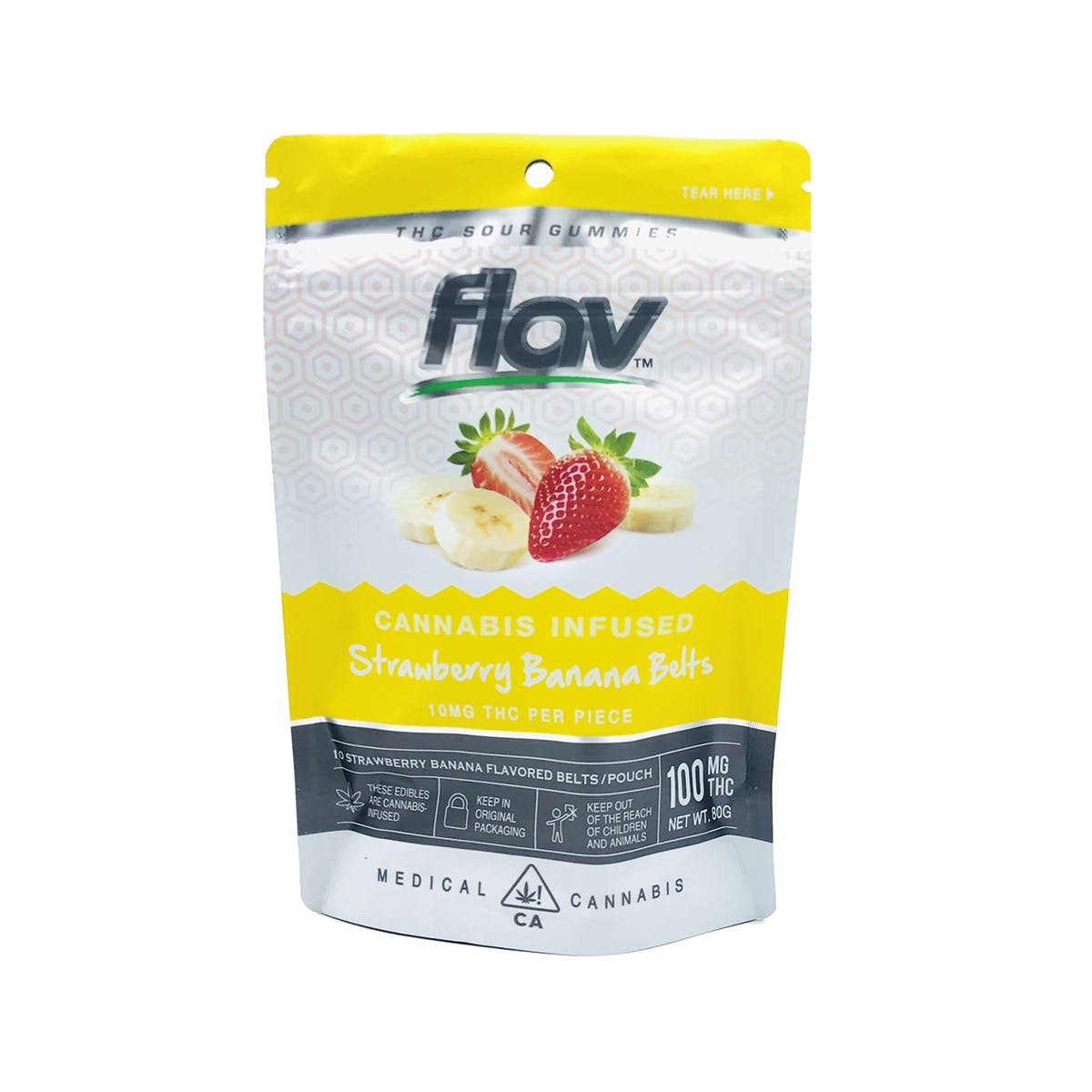 Gummies - Strawberry Banana Belts 100mg