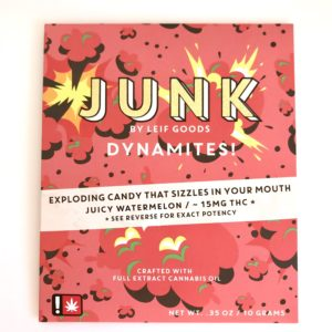 Junk : Dynamites - Juicy Watermelon 15mg THC