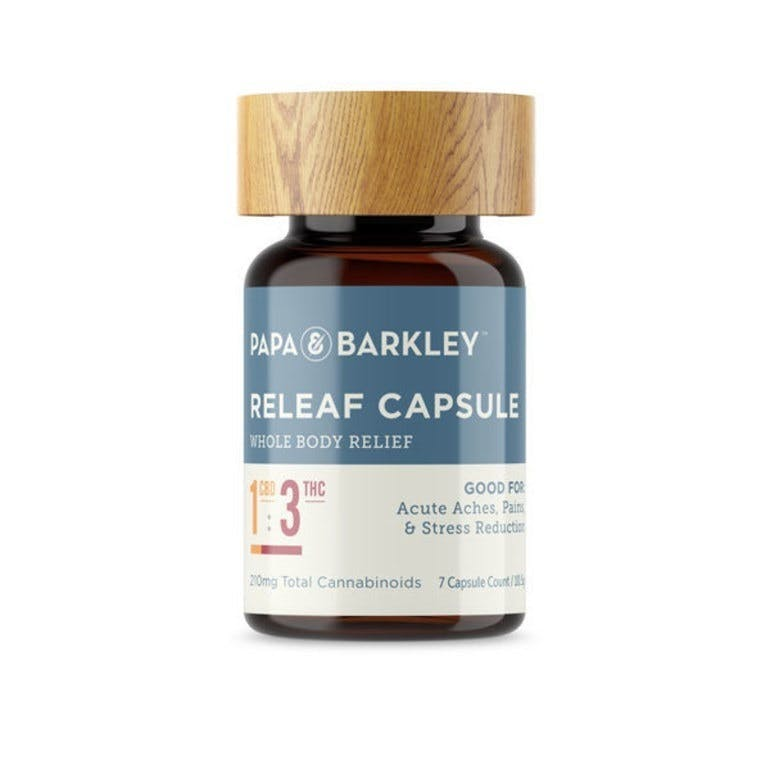 [Papa&Barkley] 1:3 Releaf Capsules, 7CT