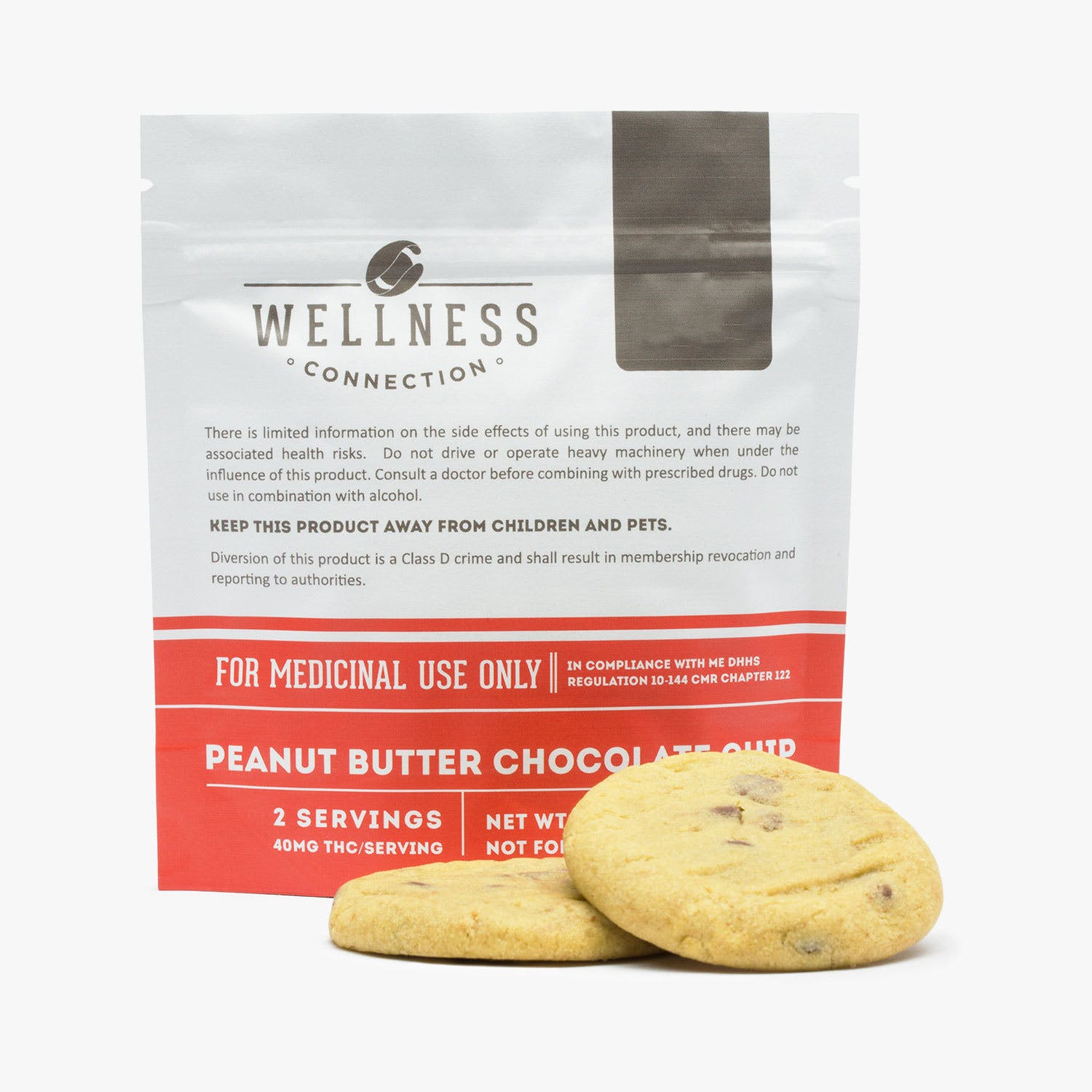 Peanut Butter Chocolate Chip Cookies—80mg