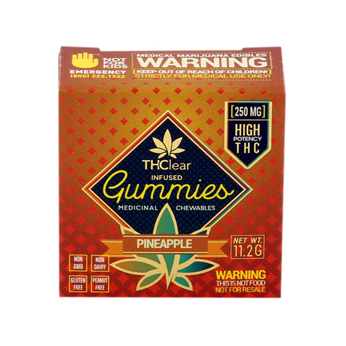 Pineapple Gummies 250mg