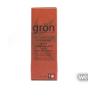 (REC) Grön Milk Chocolate Toasted Coconut Bar
