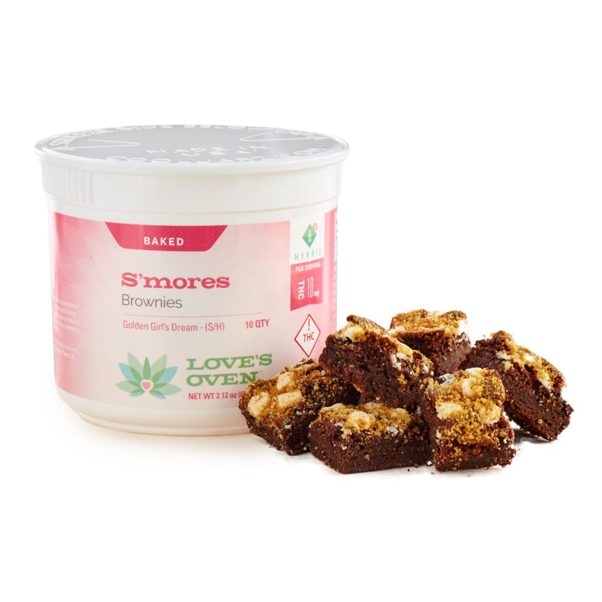 Recreational Smore's Brownies, 100mg