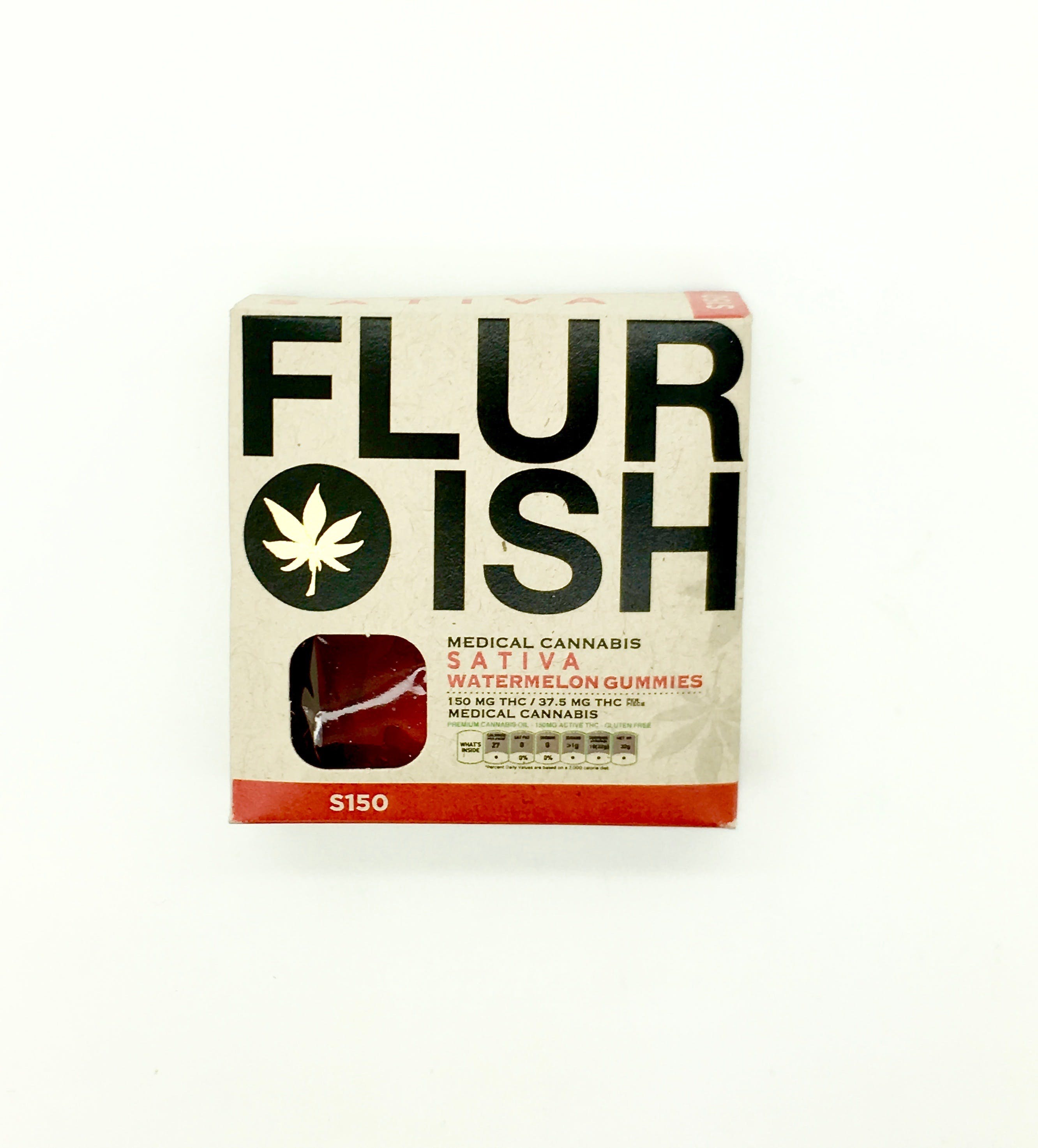 edible-flurish-sativa-watermelon-gummies-150mg