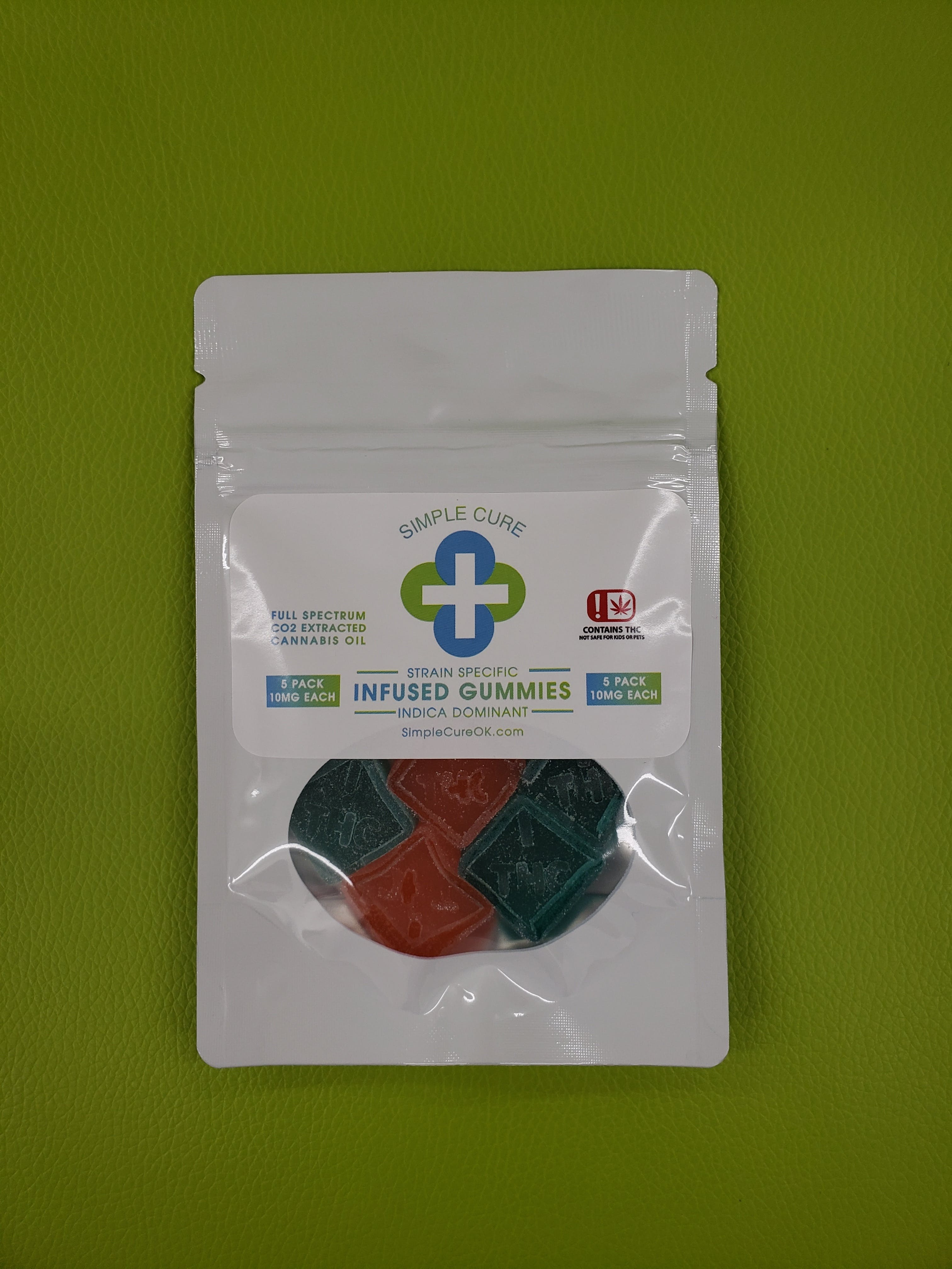 edible-simple-cure-5pk-indica-gummies-10mg-each-all-taxes-included