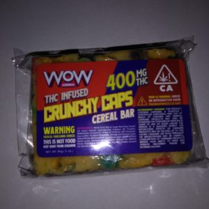 WOW Cereal Bar - Crunchy Caps 400mg